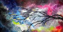 Neon, Traum, Abstrakt, Acrylmalerei