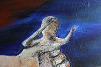 Acrylmalerei, Gefangen, Traum, Surreal