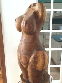 Frau holz skulptur, Plastik, Frau