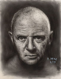 Zeichnung, Bleistiftzeichnung, Portrait, Grafit