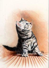 Tiere, Aquarellmalerei, Malerei