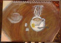 Zucker, Kaffe, Kaffesatz, Keks