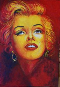 Marilyn monroe, Malen, Gesicht, Monroe