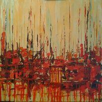 Farben, Acrylmalerei, Rot, Dekoration