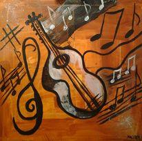 Musik, Abstrakt, Acrylmalerei, Klang