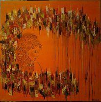 Schönheit, Abstrakt, Acrylmalerei, Farbenfroch