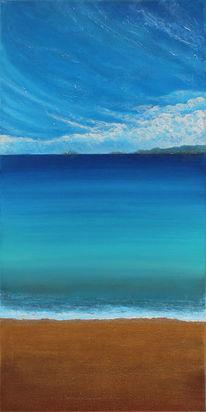 Abstrakt, Meer, Acrylmalerei, Malerei