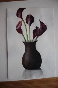 Acrylmalerei, Blumen, Malerei