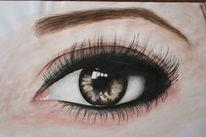 Menschen, Zeichnung, Augen, Acrylmalerei