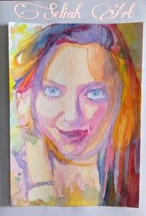 Acrylmalerei, Malerei, Amanda seyfried, Aquarellmalerei