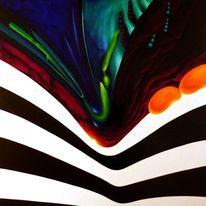 Rot schwarz, Grün, Symbolismus, Malerei