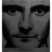 Mann, Bleistiftzeichnung, Phil collins, Sänger