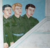 Malerei, Figural, Mauer, Gesellschaft