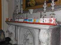 Kartenständer, Karte, Kirche, Installation
