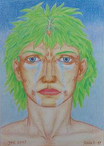 Pflanzen, Polychromos, Zeichnung, Mythologie