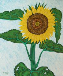Malerei, Sommer, Sonnenblumen