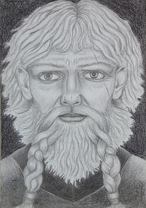 Mythologie, Figural, Tyr, Zeichnungen