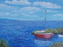 Boot, Himmel, Wolken, Wasser