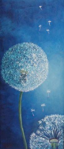 Blau, Natur, Löwenzahn, Pusteblumen