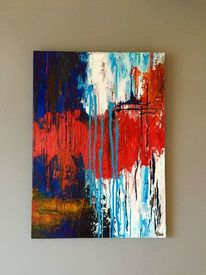 Malerei, Struktur, Abstrakt, Acrylmalerei