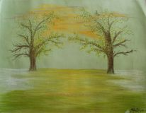 Pastellmalerei, Hadesl, Weimar, Baum