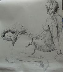 Menschliche, Frau, Skizze, Figur