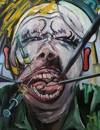 Zahnarzt, Schmerzen, Zahnschmerzen, Malerei