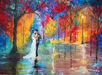 Liebe, Nacht, Hochzeit, Paar
