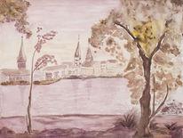 Hamburg, Aquarellmalerei, Malerei