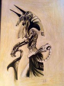 Totenbestattung, Bestattung, Geschichte, Anubis