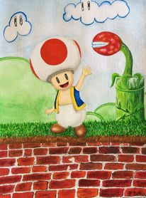 Toad, Nintendo, Supermario, Games