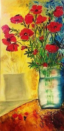 Malerei, Natur, Gelb, Schwarz