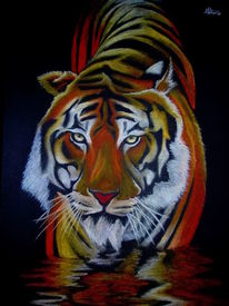 Figural, Tiger, Malerei