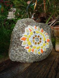 Dekoration, Garten, Stein, Mosaik