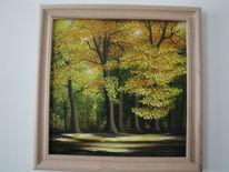 Wald, Herbst, Licht, Malerei