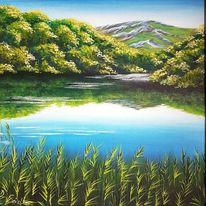 Ufer, See, Wasser, Himmel