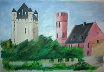 Architektur, Rhein, Malerei