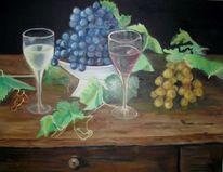 Malerei, Ölmalerei, Wein, Zeit