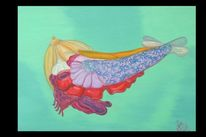 Fantasie, Surreal, Meer, Ölmalerei