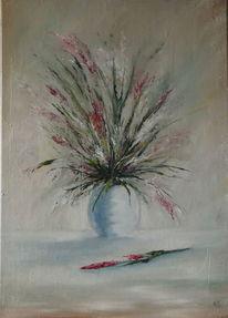 Vase, Blumen, Straus, Malerei