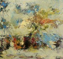 Ölmalerei, Blumen, Gemälde, Abstrakt