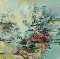 Abstrakt, Korallen, Riff, Malerei