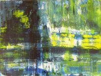 Abstrakt, Grün, Weiß, Modern