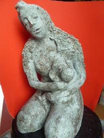 Skulptur, Mutter, Kind, Plastik