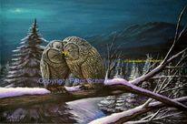 Jahreszeiten, Natur, Gemälde, Berge