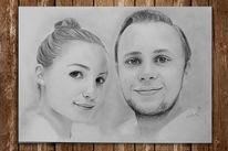 Kopf, Paar, Menschen, Portraitzeichnung