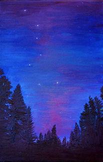 Nacht, Ambiente, Landschaft, Stern