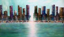 Malerei, City skyline
