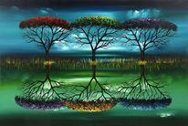 Grün, Baum, Natur, Surreal