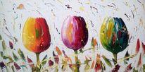 Abstrakt, Fantasie, Malerei, Tulpen